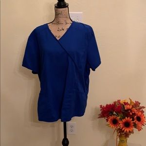 Scrub Star Royal Blue Scrub Top